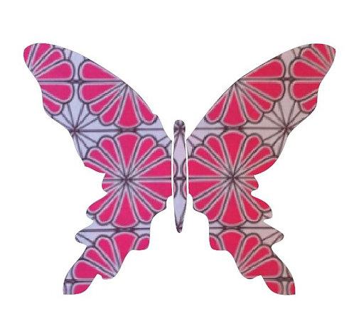 Butterfly pin board -pink daisy