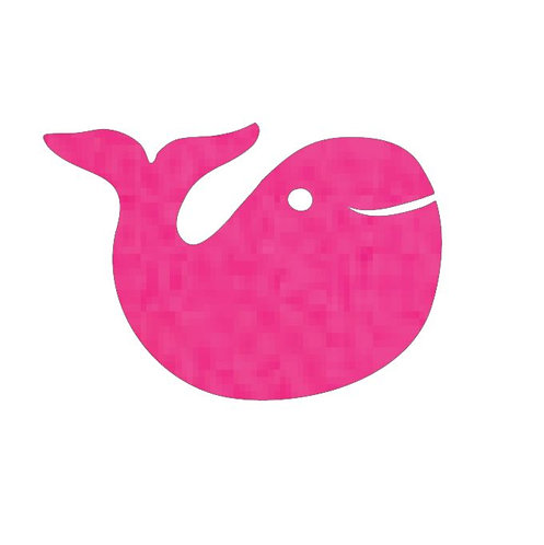 whale pin board -hot pink
