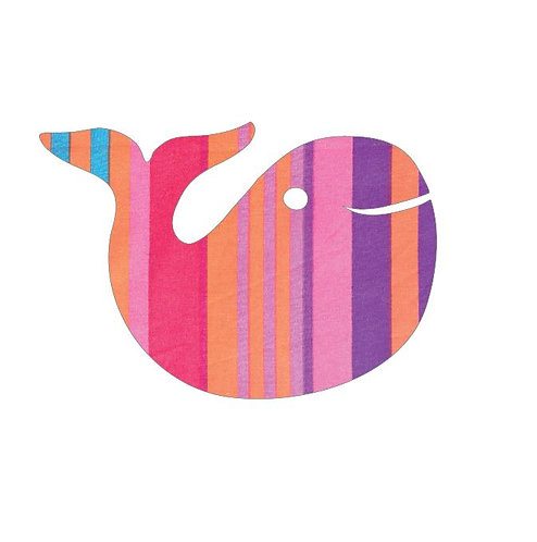 whale pin board - candy cane