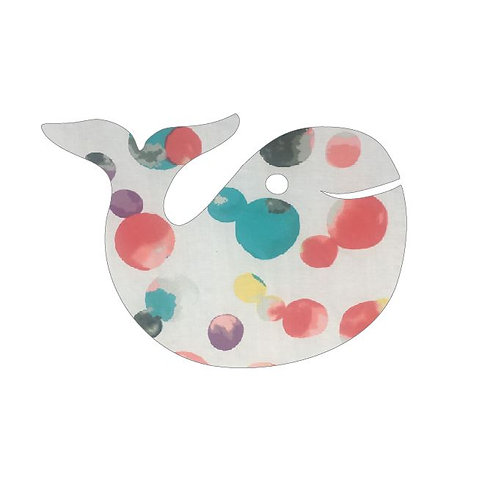 whale pin board - abstract