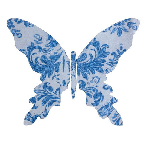 Butterfly pin board -blue china