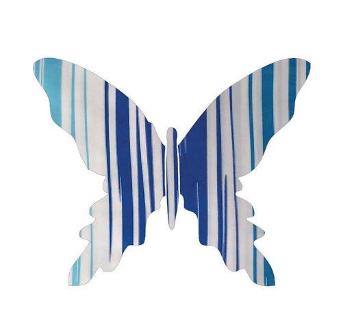 Butterfly pin board -blue streaks