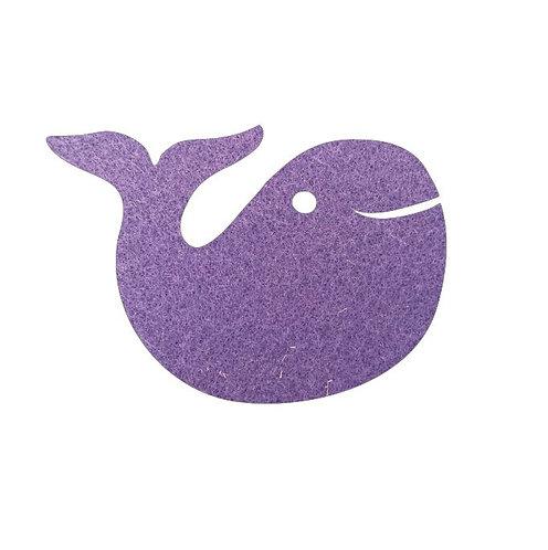 whale pin board - mauve