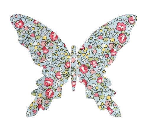 Butterfly pin board -french rose