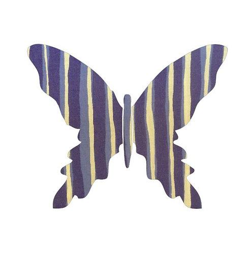 Butterfly pin board -blue poles