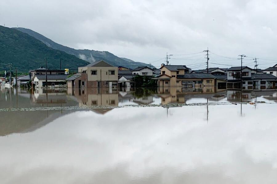 8月豪雨により被災した武雄市内の様子①