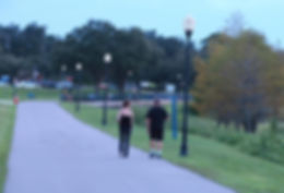 Walkers on Clermont's South Lake Trail,