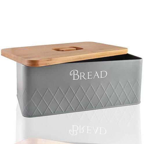 Bread Box with Bamboo Cutting Board Lid
