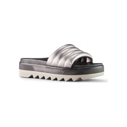 Prato Metallic Sheep Nappa Matte Silver.