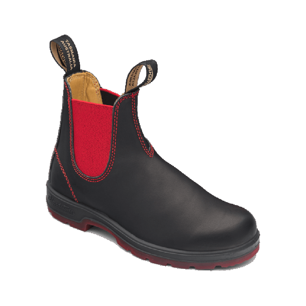 550 Chelsea Boot Black Red