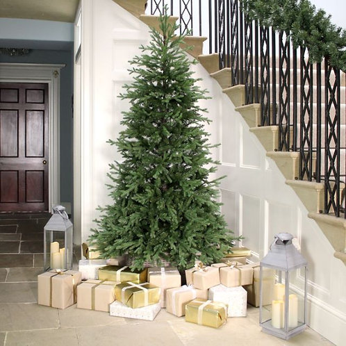 Non Drop Blue Spruce Christmas Tree 7ft