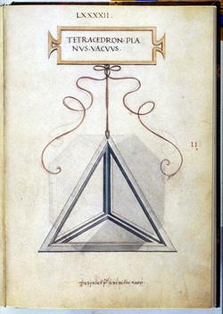 Tetraedro desenhado por Da Vinci