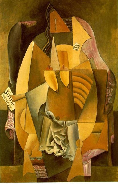 Picasso; Retrato de Eva Gouel