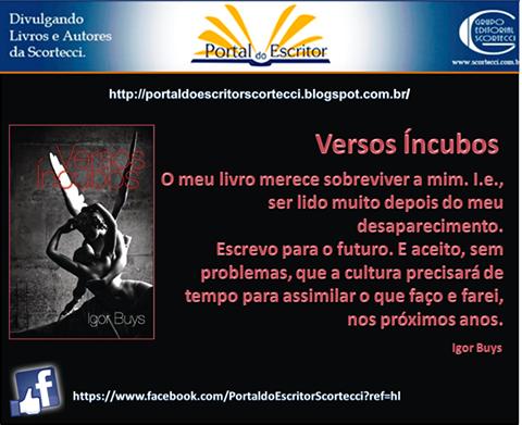 Entrevista ao Portal do Escritor - Scortecci, 25 de novembro de 2014