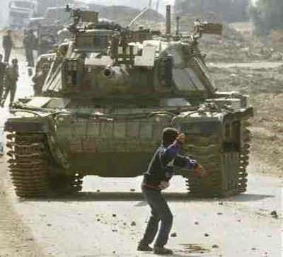 Menino palestino contra tanque sionista