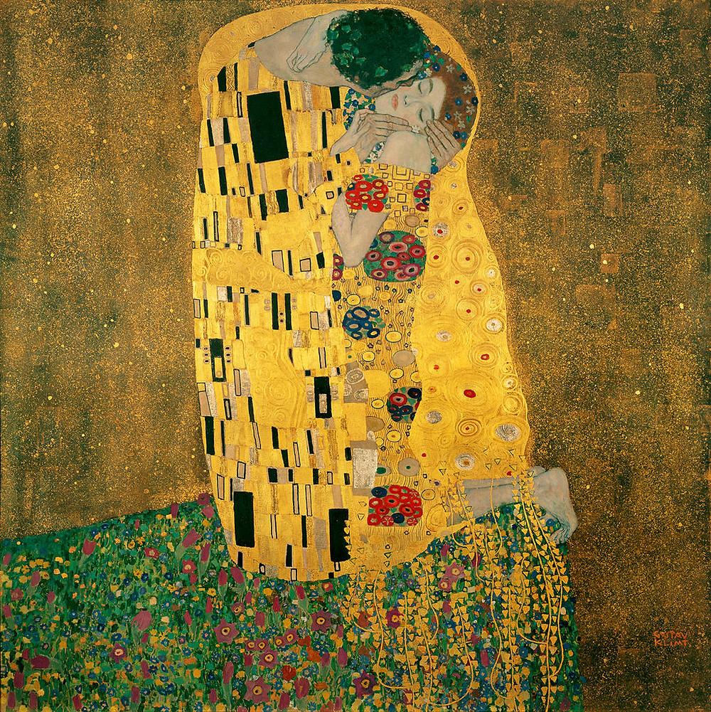 """Gustav Klimt; """"O beijo"""""""
