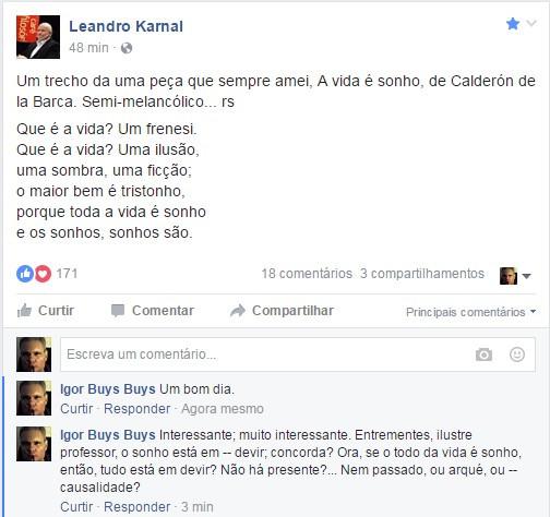 A CRIANÇA HERACLÍTICA PODERÁ SER FLAGRADA EM LEANDRO KARNAL?