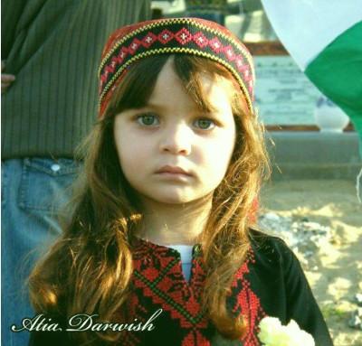 Foto de menina palestina