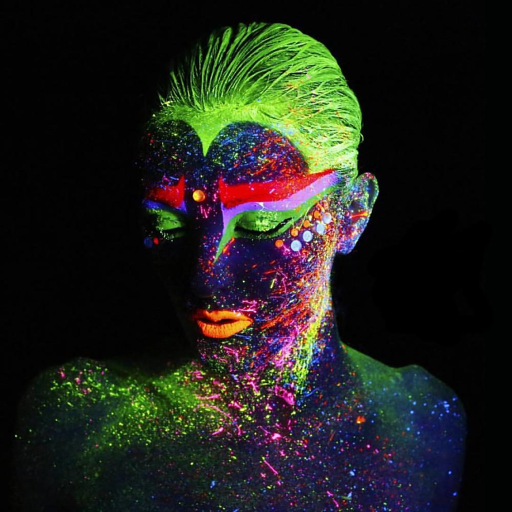 Black light body painting