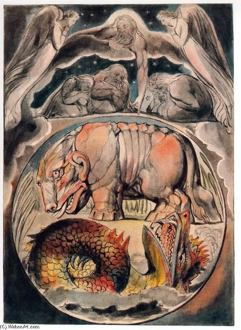 Behemoth e Leviatã; William BLake