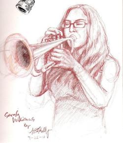 Sarah and her trumpet