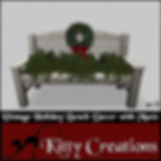 PIC Vintage Holiday Bench  Decor with Mu