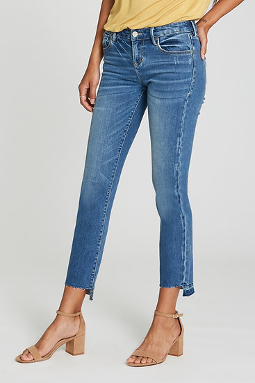 Liam Mid Rise Straight Leg Jean