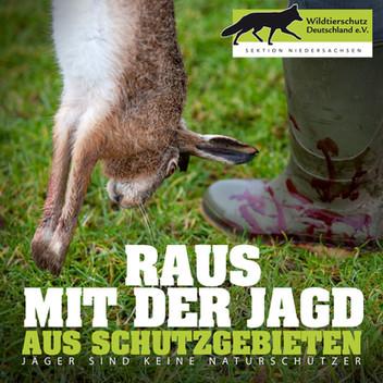 Raus mit der Jagd aus Schutzgebieten