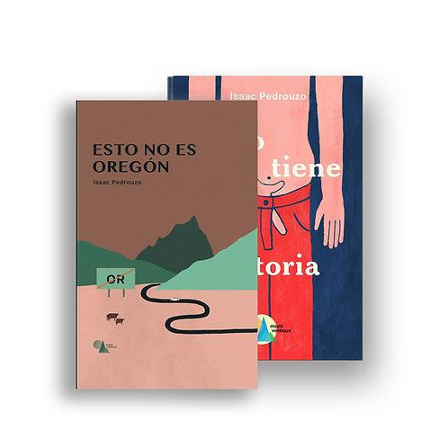"""Pack """"Todo tiene una historia"""" + """"Esto no es Oregón"""", de Isaac Pedrouzo"""