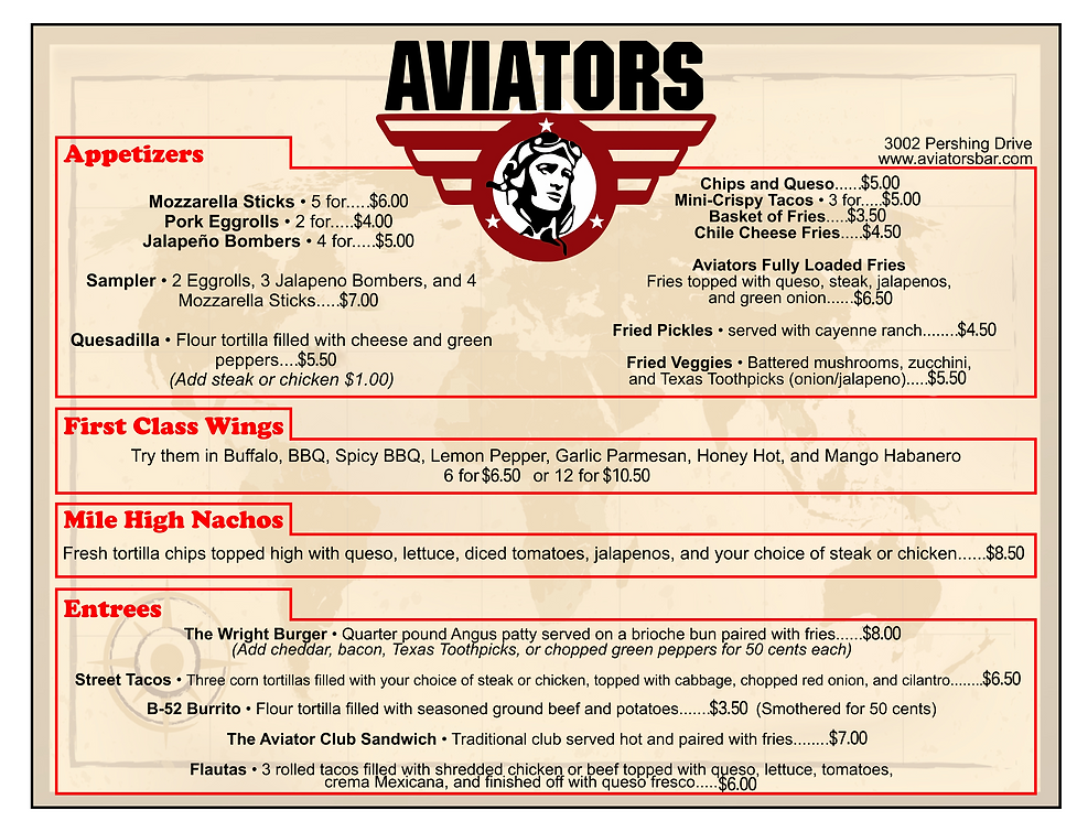 Aviators Central Menu.png