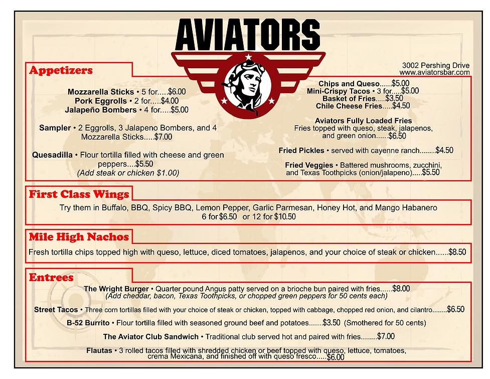 Aviators Central Menu.png