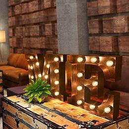 Retro with LED Bulb Signages