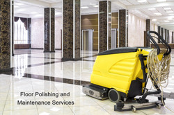 Sweeper scrubber on polished floor