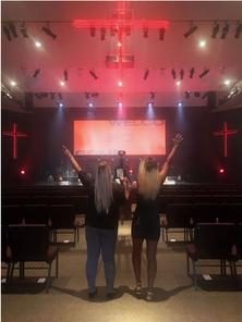 Survivors at church