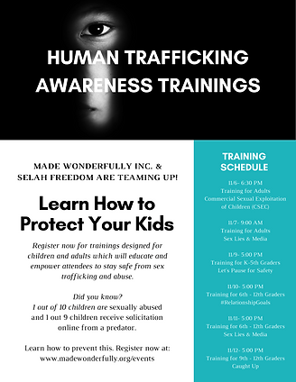 Wonderfully Made prevention Event Flyer.