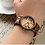 Thumbnail: 經典復古鋼琴音樂棕色真皮手錶