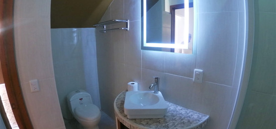 Inisde third bathroom