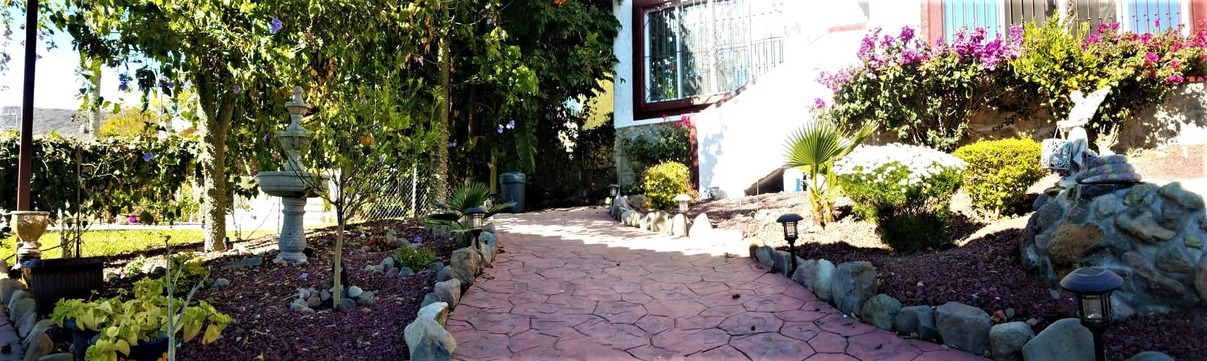 Garden paved walkways