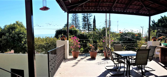Outdoor covered terrace view