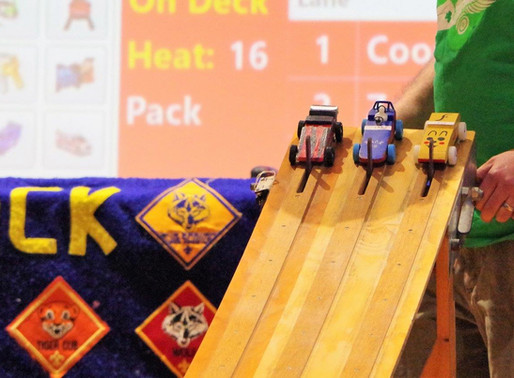 80 Cars Compete at Cub Scout Pinewood Derby!