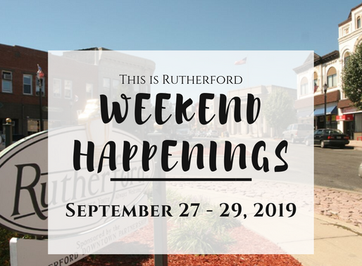 This is Rutherford's Weekend Happenings {September 27 - September 29, 2019}