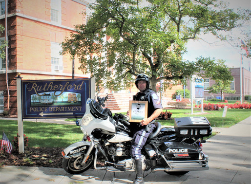 Officer Villareale Wins First Place in Motorcycle Competition