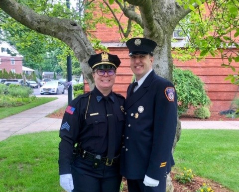 These are First Responders:  Robert Robinson and Julie Ann Ziegler