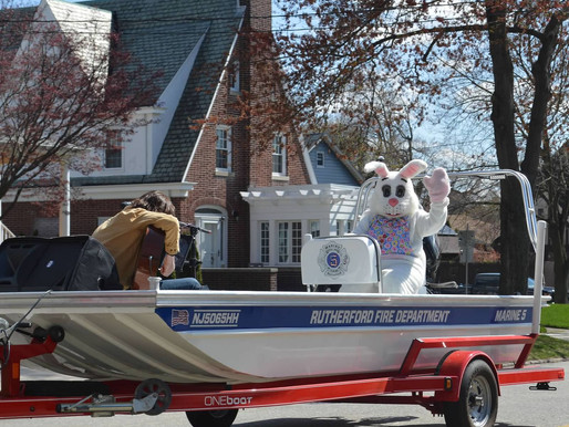 Easter Bunny Arrives in Rutherford