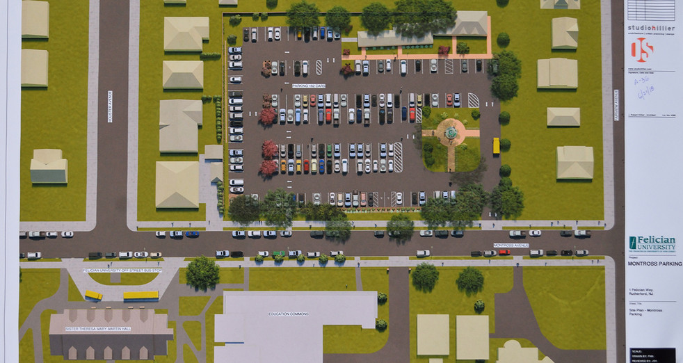 Montross Parking rendering on file at Borough Hall