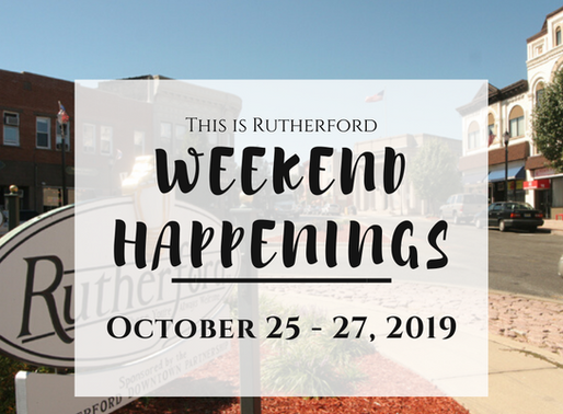 This is Rutherford's Weekend Happenings {October 25-27, 2019}