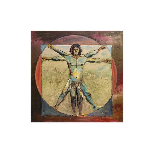 Vitruvian Man Modern Style