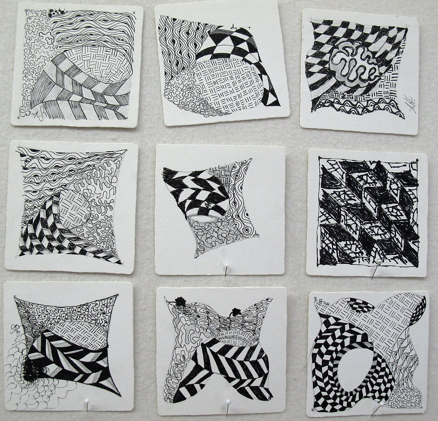 Blooming Life - Zentangle art therapy