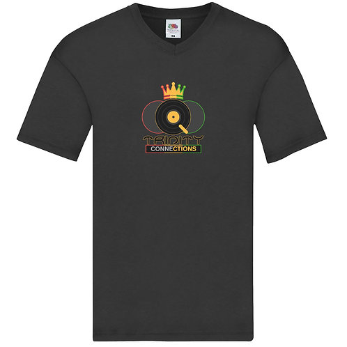 Black Trinity Connections V-neck T-shirt