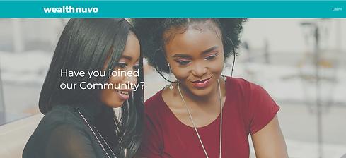 wealthnuvo - Community Platform by Brand